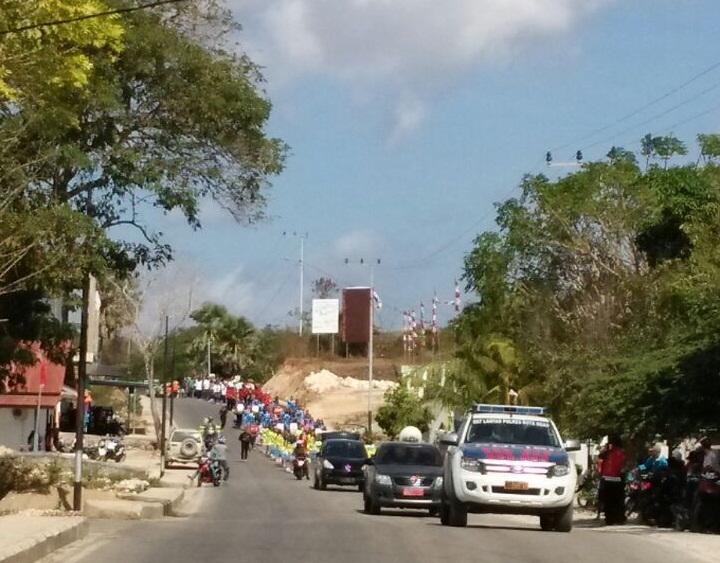 Kemeriahan pawai pembangunan HUT Republik Indonesia ke 72 Rote Ndao, dikawal ketat Satuan Lalu-lintas