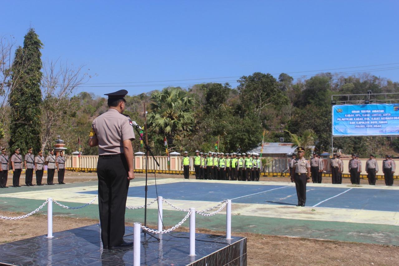 Beberapa Pejabat Utama Polres Rote Ndao Diserahterimakan Dan Dilantik Pagi Ini