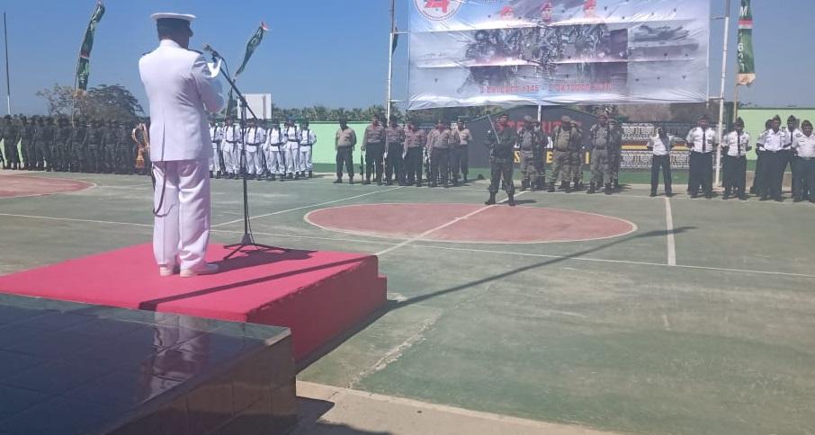 Para Pejabat Utama Polres Rote Ndao Hadiri Upacara HUT TNI ke 74